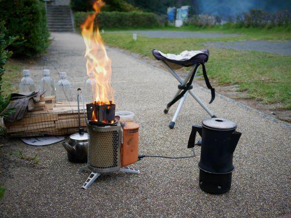 発電焚火のBiolite